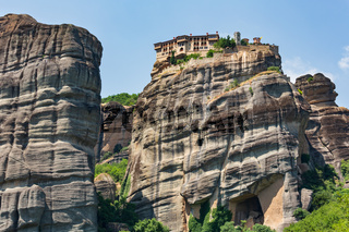 Summer rocky Meteora monasteries, Greece
