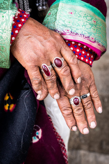 Hands of Indian woman