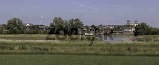 Stadtkulisse Rees, Niederrhein, NRW