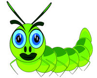 Vector illustration of the maggot of the caterpillar cartoon