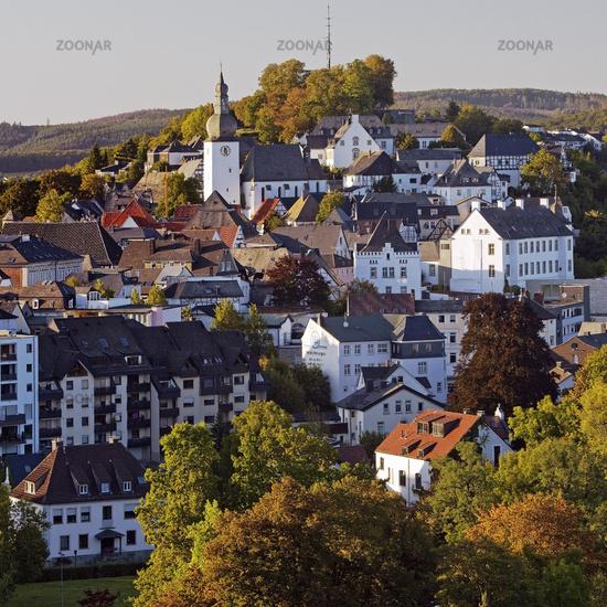 Old city and castle hill, Arnsberg, Sauerland, North Rhine-Westphalia, Germany, Europe