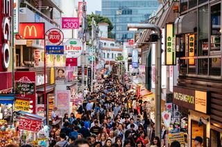 Takeshita Street in Harajuku Tokyo Japan