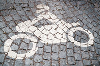 Parking for motorcycles at the foot of the Wartburg near Eisenach