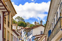 Colonial houses of Ouro Preto city and hills