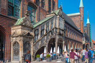 Renaissancetreppe am Neuen Gemach in Lübeck
