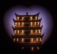 Wulingyuan pagoda in a frame