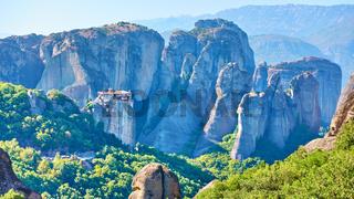 Rocks of Meteora with The Monastery of Roussanou