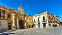Porta San Biagio at the Piazza d'Italia in Lecce Apulia Italy