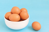 Fresh brown chicken eggs