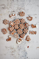 Fresh and tasty Christmas gingerbread cookies
