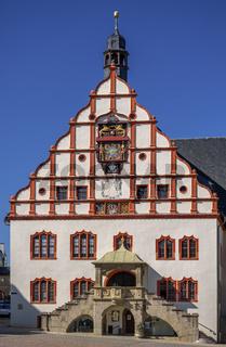 Plauener Rathausfassade am Altmarkt