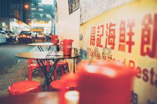 Hong Kong temple street dai pai dong