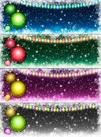 Set of Christmas backgrounds