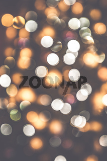 Retro bokeh lights on a dark background