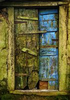 Old wood doors, Meghalaya, India