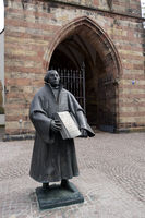 Martin Luther statue in front of the protestant convent church