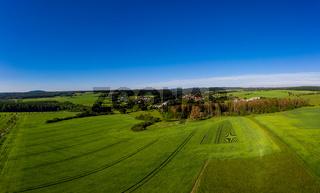 Luftbildaufnahmen aus dem Harz Ortschaft Güntersberge