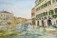 Venice, view from Canale Grande on the Palazzo Balbi