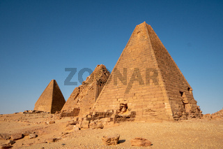 Nubian pyramids at Jebel Berkal in the northern part of Sudan