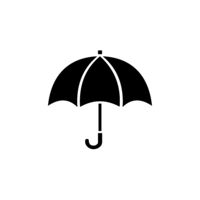 Umbrella. Isolated icon. Weather vector illustration