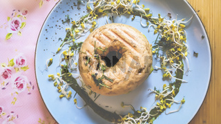 Bagel - Snack mit Sojakeimlingen