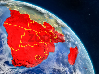 Southern Africa from space