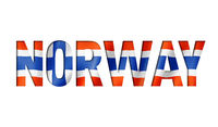 norwegian flag text font
