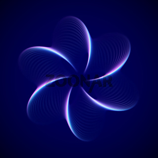 3D abstract decoration element. Big data or artificial intelligence background.
