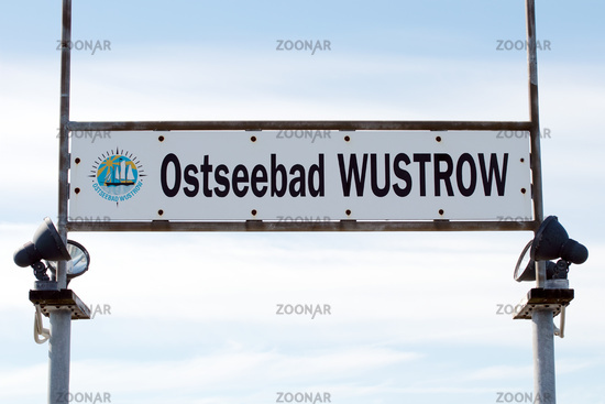 Wustrow Sign 001. Fischland Darss Zingst. Germany