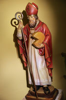 Wooden sculpture St. Theodul, patron saint of the cheese dairy