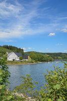 Listertalsperre reservoir in Sauerland region,North Rhine westphalia,Germany