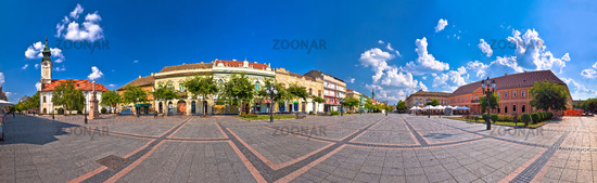 Town of Sombor square and architecture panoramic view