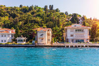 Beautiful Asian side of Istanbul view from the Bosporus straight, Turkey