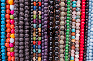 Fashion colorful beads necklaces.