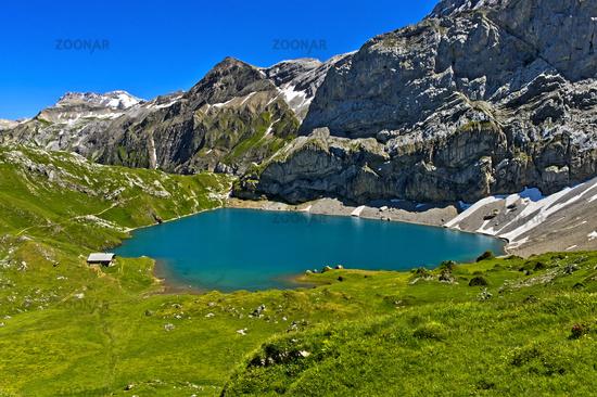 Mountain lake Iffigsee, Lenk, Switzerland