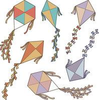 Flying Kite Icons