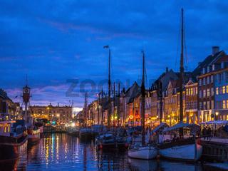 The old harbour area of Nyhan in Copenhagen