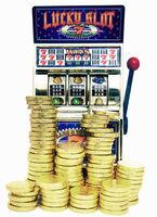 Lucky slot retro toy slot machine