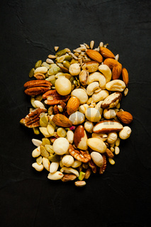 Variety of mixed nuts - almond, hazelnuts and cashew