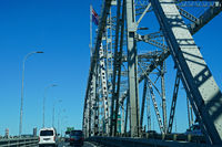Traveling north on Auckland Harbour Bridge, New Zealand.