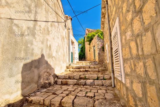 Old stone narrow street of Cavtat