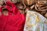 environmentally friendly sustainability with linen and wood