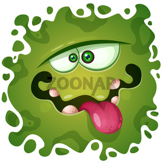Cute, funny, crazy monster character. Helloween illustration. Printing on T-shirtsa