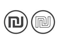 Israeli shekel currency symbol, vector illustration isolated on white