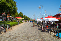 Promenade of the seaside resort and a district of the city of Rostock.