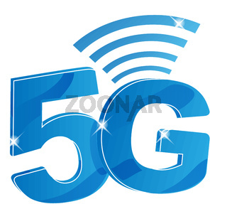 5G internet network vector logo. Isolated icon for 5 G mobile net or wireless high speed connection . vector illustration