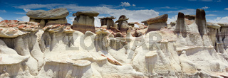panorama rock desert landscape in northern New Mexico