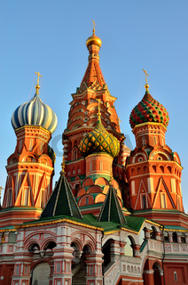 Moskau, Russland-19. November 2018: Kathedrale von Wassili der Seligen, Pokrowski Kathedrale auf dem
