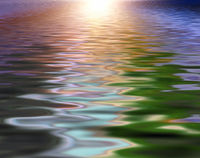 Soft and blurred colorful surface rippled of water background