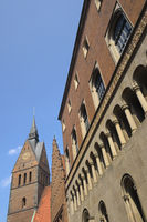 Hanover - Marktkirche and Old Town Hall with